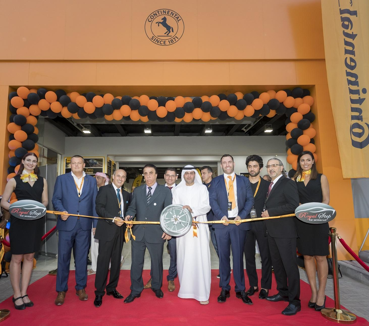 Royal Step becomes 'Authorised Dealership' of Continental and EUT, (L-R) , Karel Kucera, Managing Director of Continental Middle East, Hassan El Haj, Managing Director of Royal Step Car Services, Khalil Ismail Jaber, CEO at Royal Step Car Services, Khalid Abdulla Tariam, Chairman & General Manager of Dar Al Khaleej publishing house, and Shaun Smith, General Manager at EUT